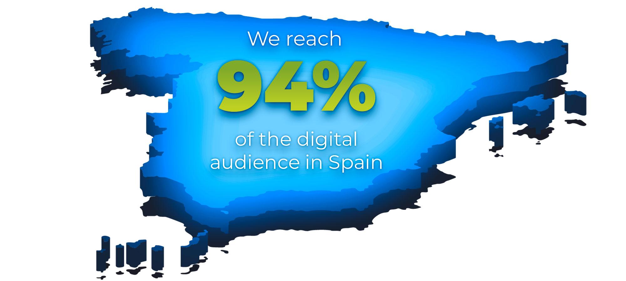 We reach 94% of the digital audience in Spain